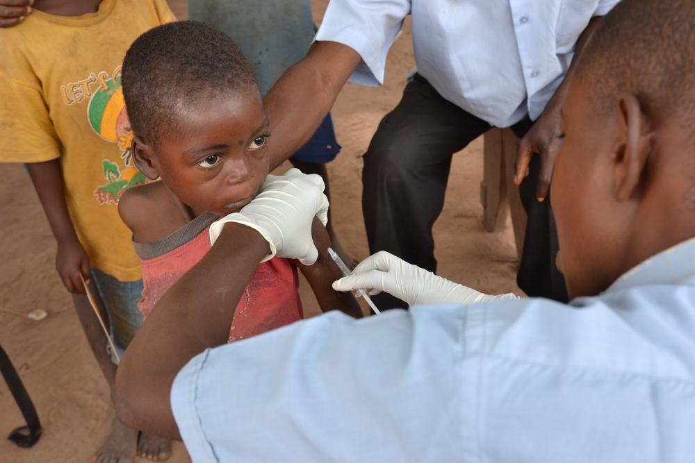 Vaccinare contro il morbillo in RDC