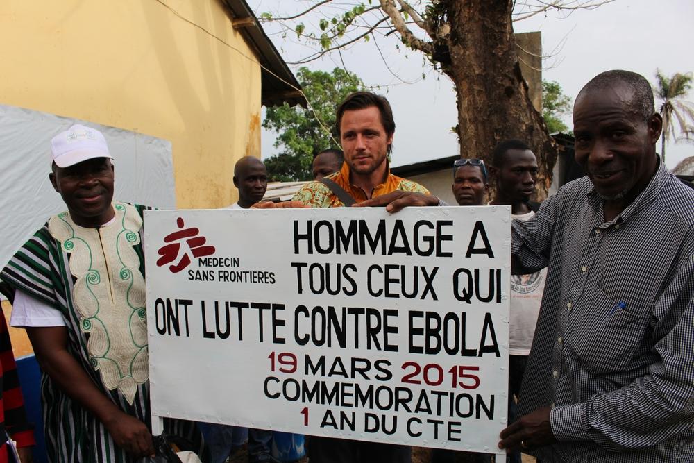 L'omaggio ai sopravvissuti all'epidemia di Ebola a Guéckédou