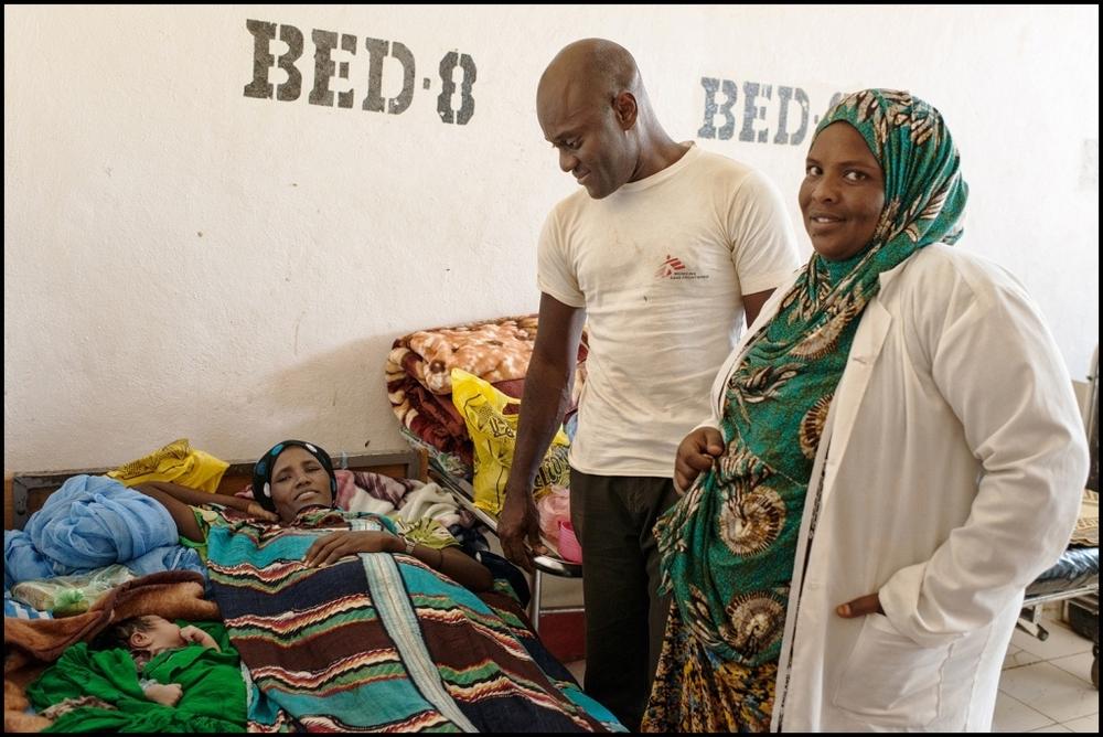 Sindebie Weda, 30 anni, la prima paziente donna ricoverata nell'ospedale di Degehabur