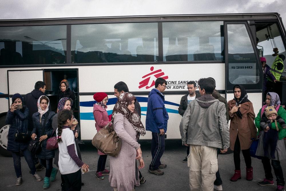 MSF ha prestato assistenza urgente a 8 famiglie di siriani e afgani a Samo