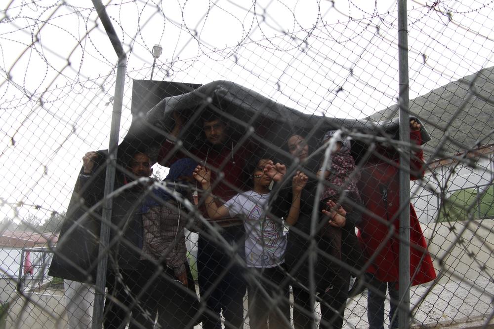 L'hotspot di Samo, diventato un centro di detenzione da 20 marzo 2016