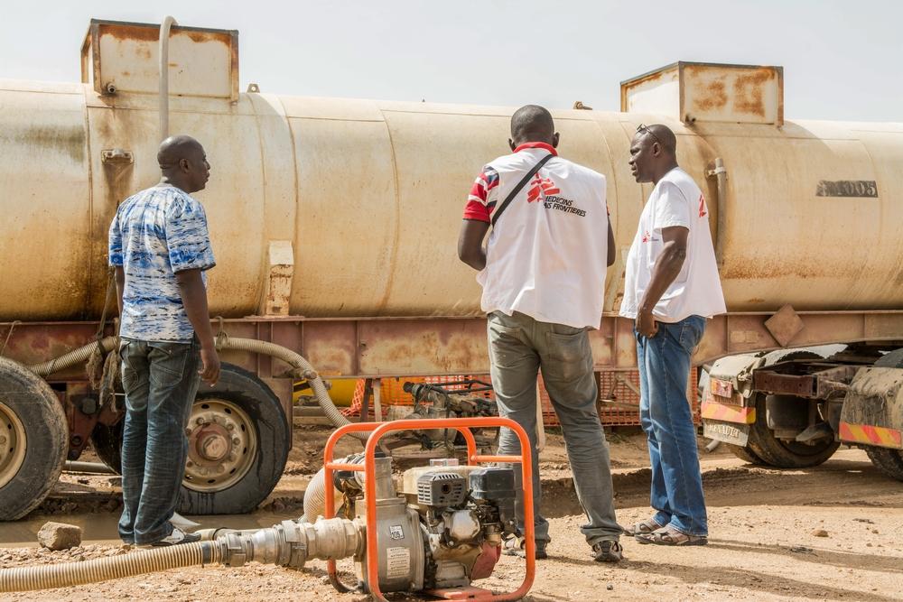 MSF fornisce tra il 60% e il 70% dell'acqua nel campo di Minawao, che ospita 57.000 rifugiati dalla Nigeria