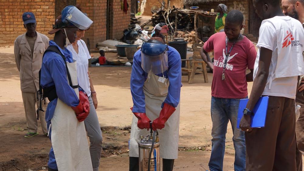 Attività di disinfestazione in corso nel distretto di Moissala per ridurre la diffusione della malaria