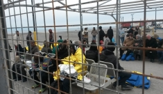 Migrants arrive in Kos, Greece.