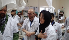 MSF International President Dr. Joanne Liu visiting Kunduz Trauma Center, Afghanistan