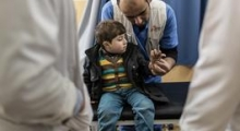MSF post-op clinic in Gaza City