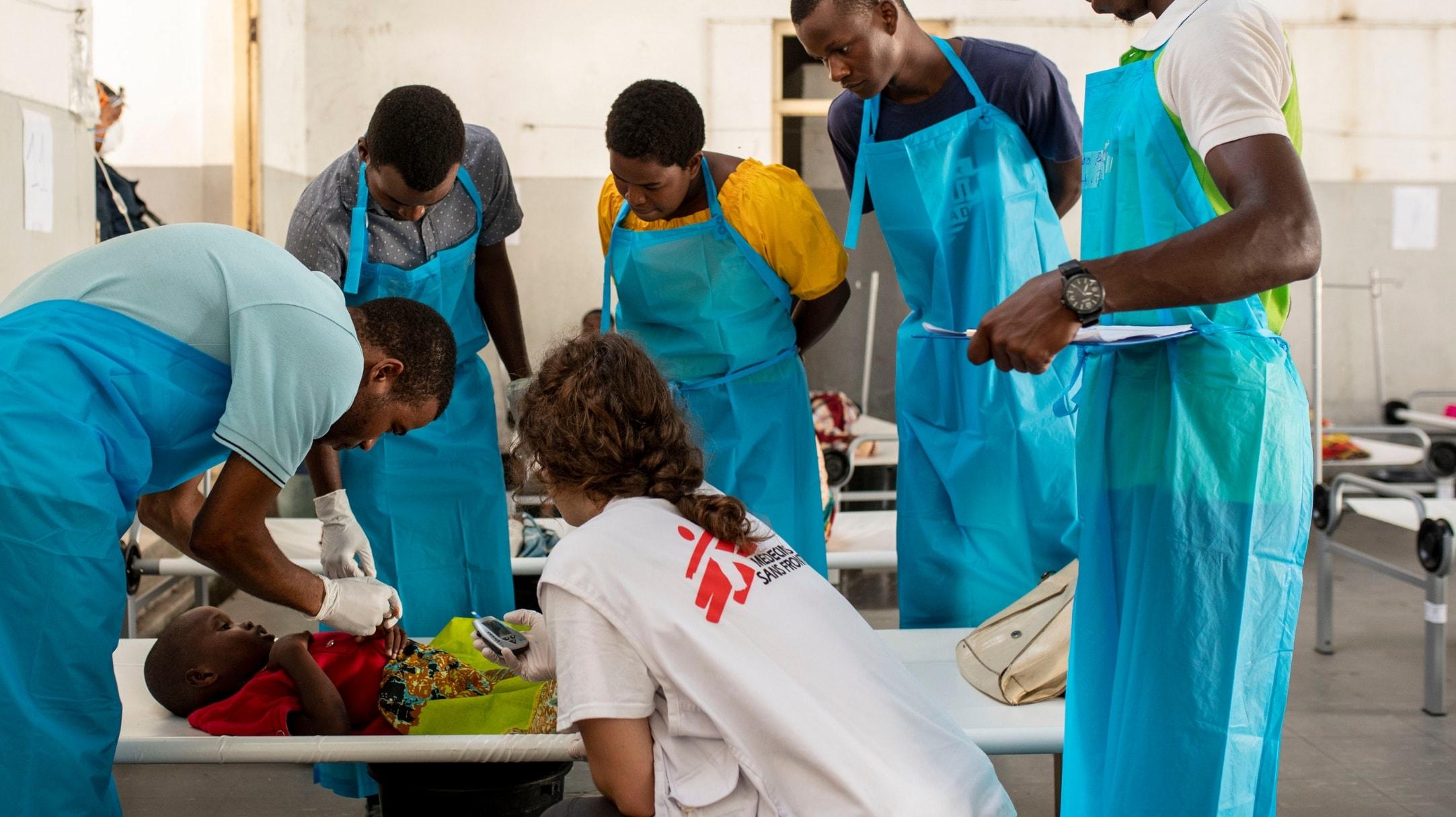 Centro di trattamento MSF per il colera in Mozambico