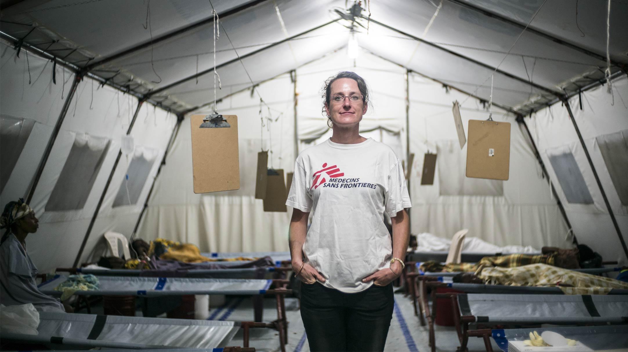 Centro di Trattamento MSF per il colera a Haiti
