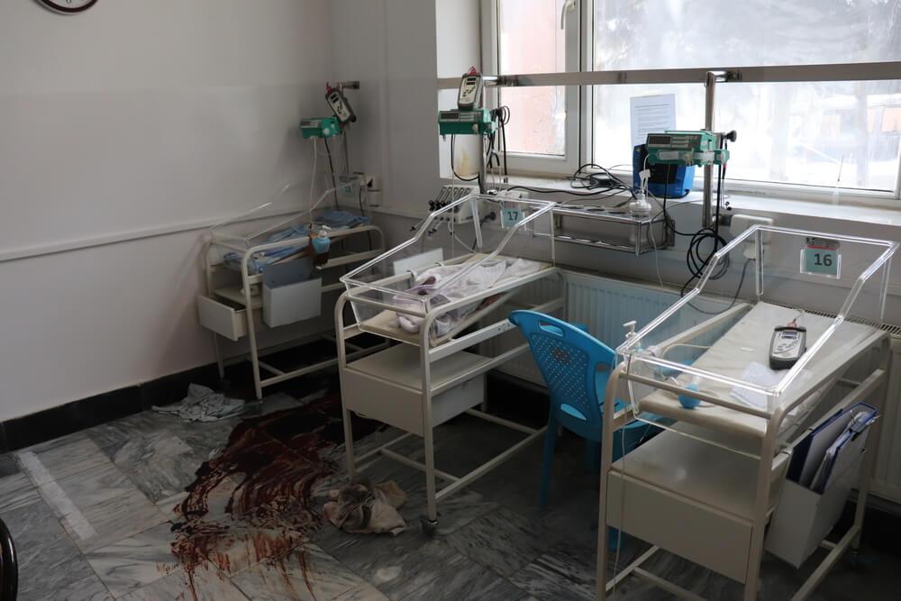 Unità neonatale Kabul dopo l'attacco