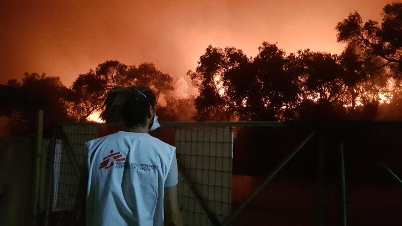Incendio a Moria settembre 2020