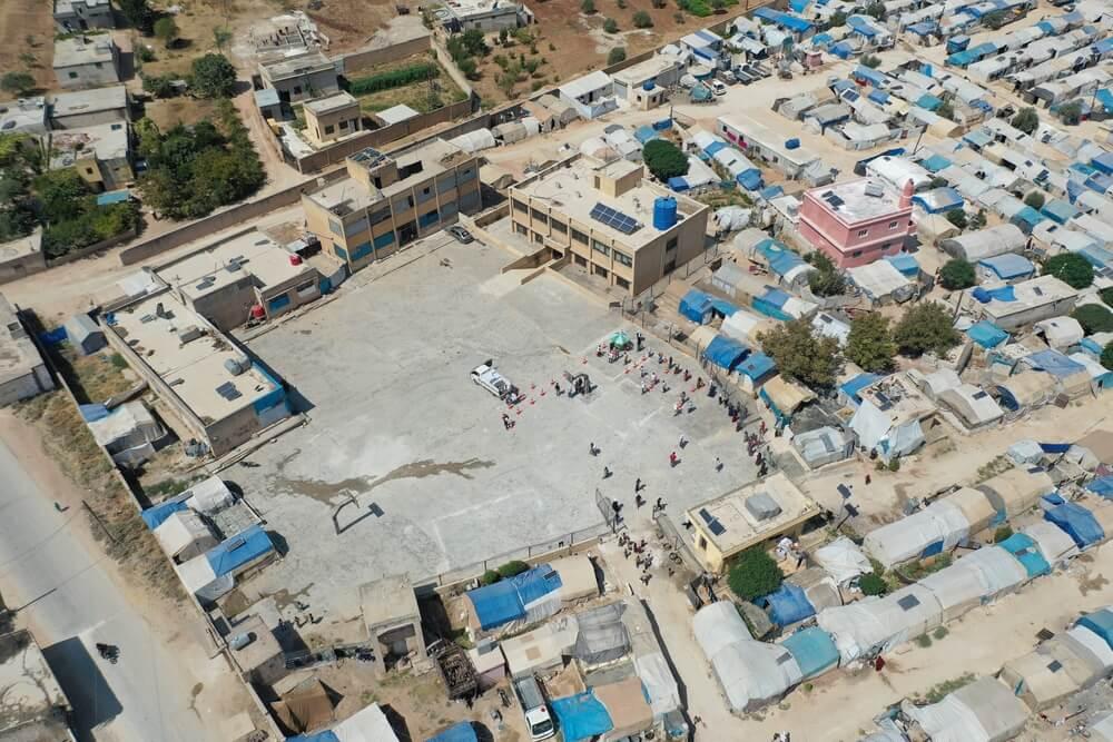 Campo sfollati nel governatorato di Idlib