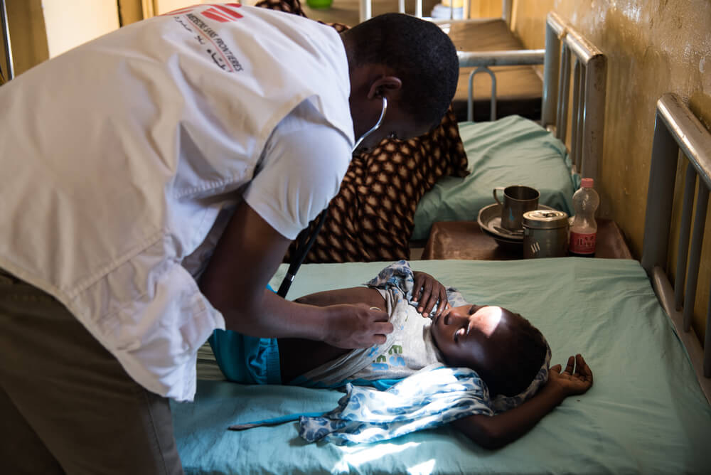 Visita a un paziente Kala Azar in Sudan