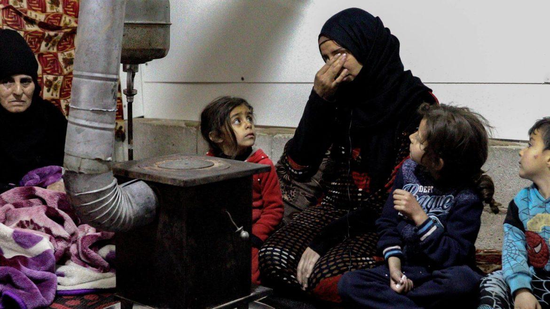 Famiglia rifugiata siriana nella Valle del Bekaa