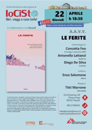 """Locandina evento di presentazione del libro """"Le Ferite"""""""