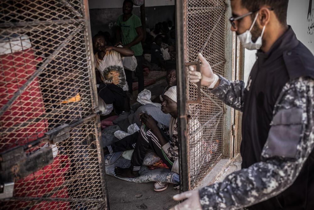 Centro di detenzione a Tripoli, Libia
