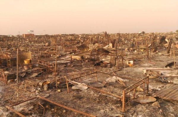 Campo MSF distrutto Malakal