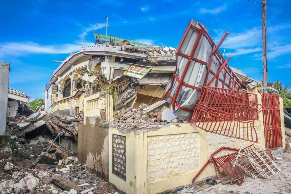 Haiti, edificio distrutto dal terremoto