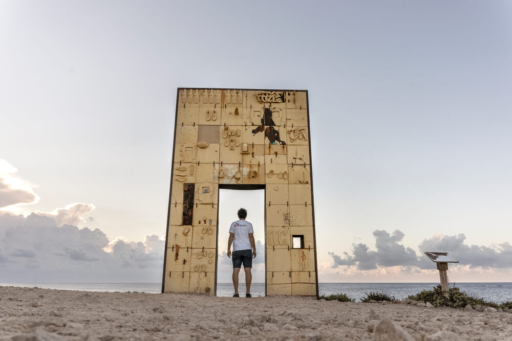 Porta d'europa a Lampedusa